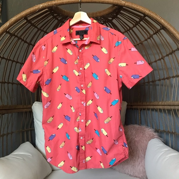 Forever 21 Other - Forever 21 Men's Fun Popsicle Button Down